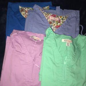 4 Koi scrub tops XL